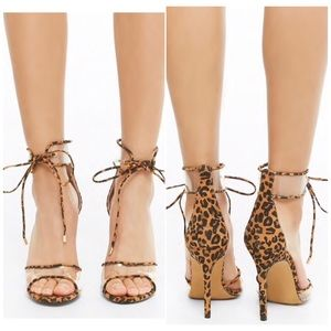 Shoes - Leopard print stiletto heels Nwt